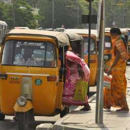 Auto Taxis run as usual in Chennai