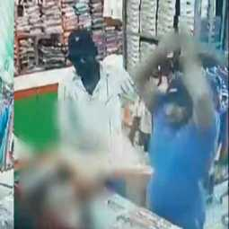 attack on owner of a shop in Nangavalli ... CCTV footage released