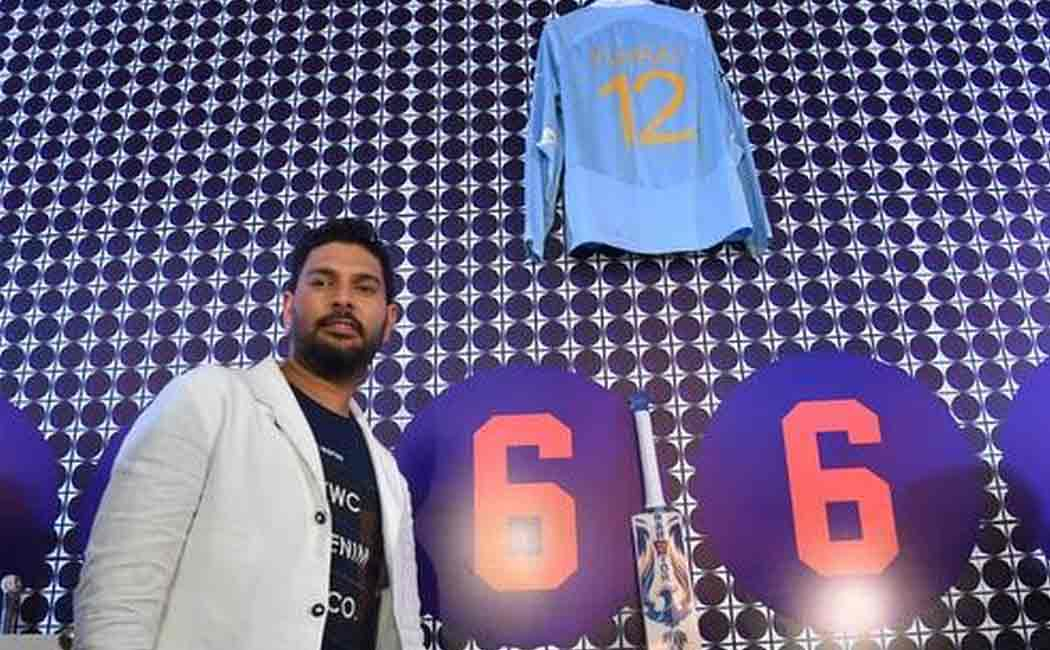 yuvraj singh posted a video with his indian team jersy