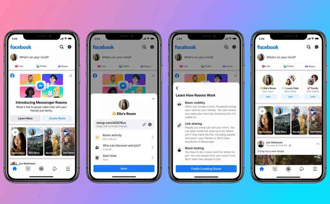 facebook to roll out new messenger rooms