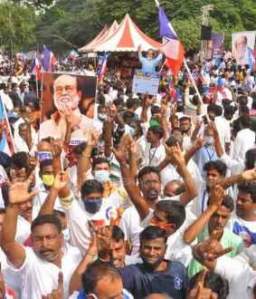 actor rajinikanth political fans chennai for today