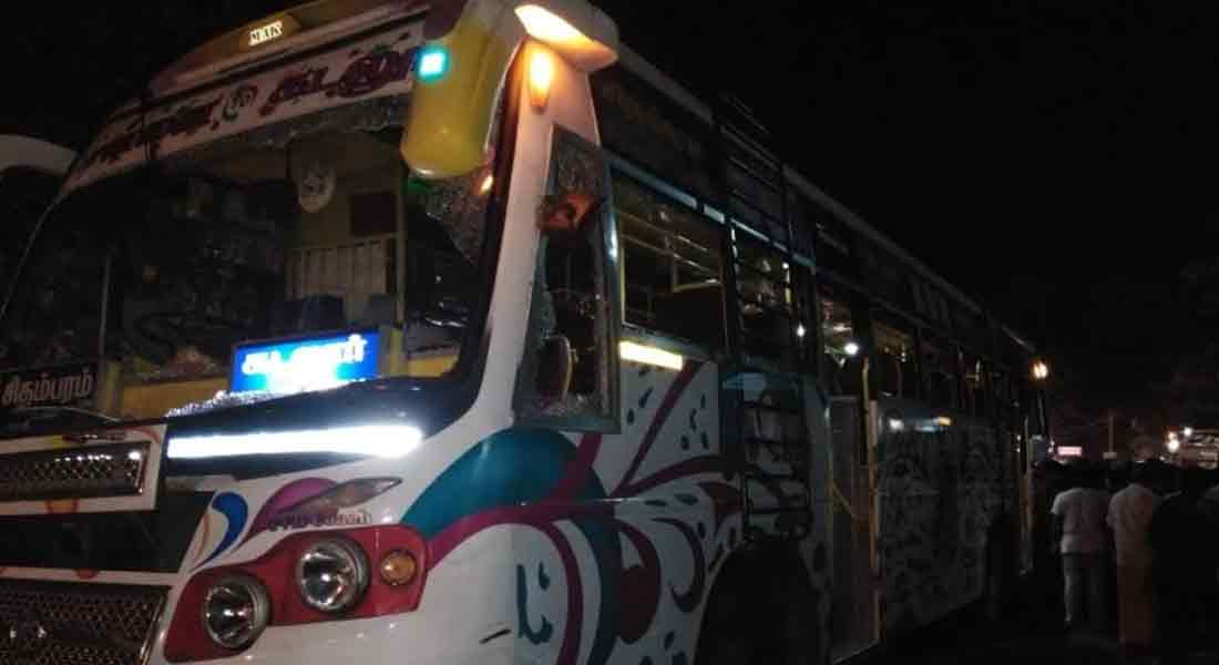 private bus accident in puducherry!