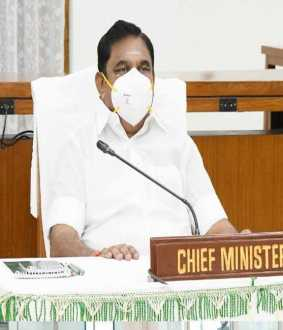 nivar cyclone cm palanisamy discussion with ministers and officers