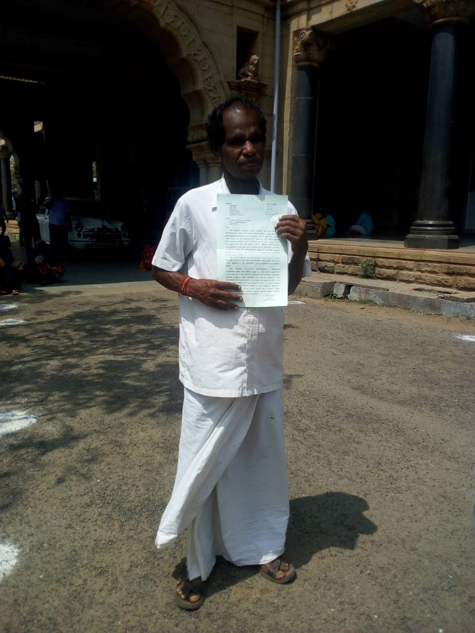 Storm relief;asks bribe .. blind worker complaint