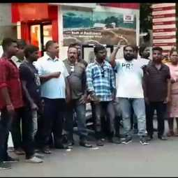 Tamil musicians  Struggle IN PUDUCHERRY POST HEAD OFFICE