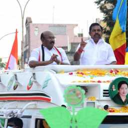 minister jeyakumar involved in campaign at royapuram