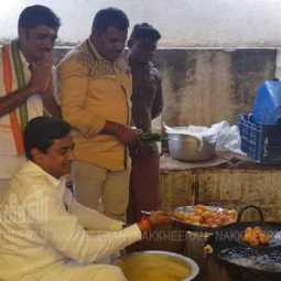 congress leader making ponda in election campaign