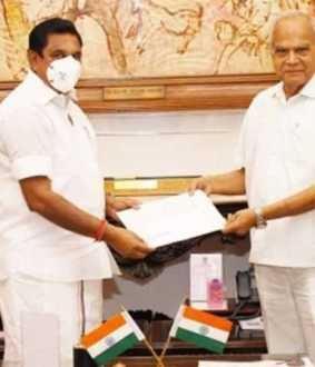 Tamil Nadu Chief Minister-Governor meeting