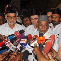 DMK LEADERS DISCUSSION WITH National President of the Indian Union Muslim League