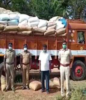 ration rice lorry police cuddalore district