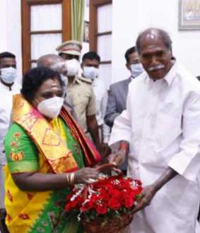 N. Rangasamy met the Governor Tamilisai