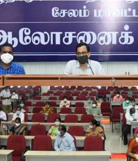 coronavirus prevention meeting salem district collector speech