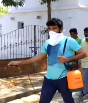 actor vimal in corona prevention action