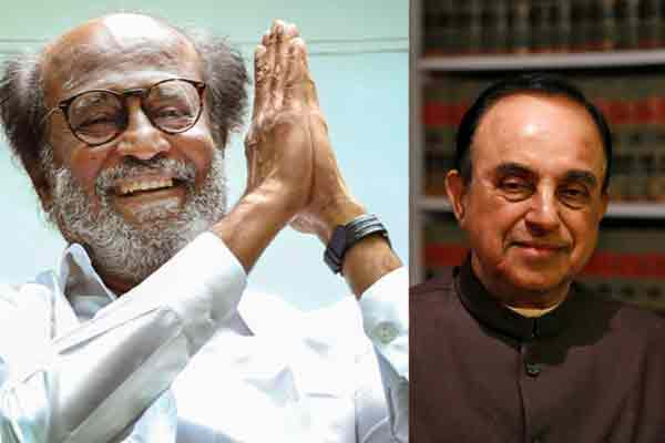 subramanian swamy about rajini political entry
