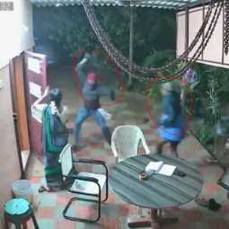 An elderly couple chasing robbers home in Nellai ... shocking CCTV footage
