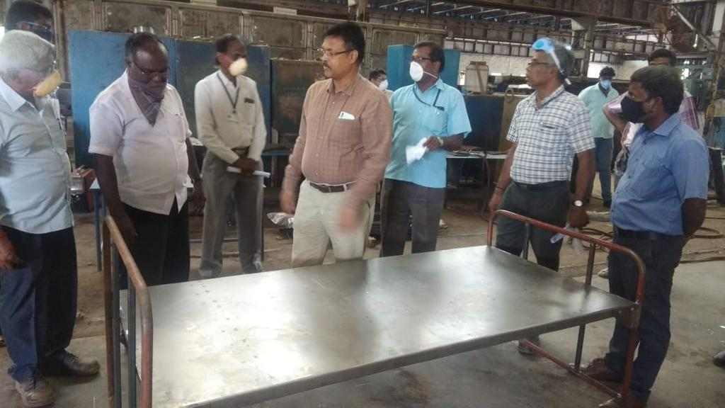 Ponnamalai Railway Workshop Preparing Iron Beds During Crisis