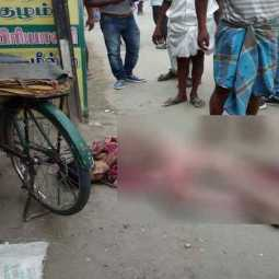 bike accident in thanjai- by police negligence