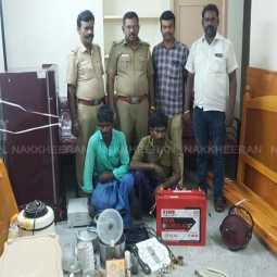 Breaking the house in cinematic style     Trafficking thief dindigul
