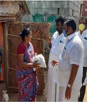 salem dmk and admk parties serve the peoples coronavirus