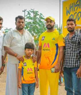 Dhoni, Udayanithi's attention-grabbing CSK Fan's new attempt ..!