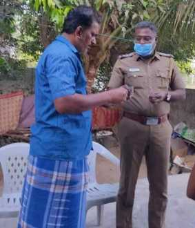 Thiruvallur district A Father of Mental illness boy has been caught by police