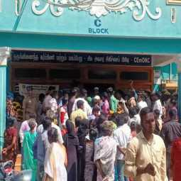 INCIDENT IN  THIRUPATHUR... PEOPLE PROTEST