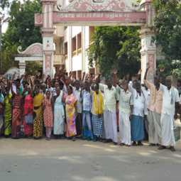 Farmers protest near Cuddalore