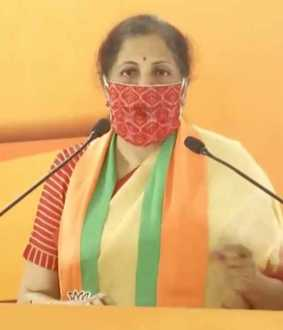 bjp party meeting union finance minister nirmala sitharaman speech