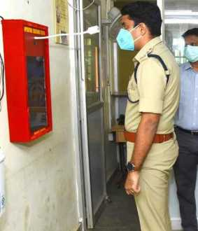 Automatic Body Heat Testing Equipment! Superintendent of Police, Cuddalore Launched!