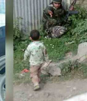 three year old boy in kashmir rescued by army