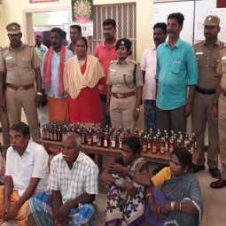 cuddalore rowdies ilegal liquor sales persons arrested in police