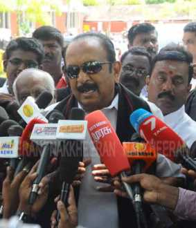 vaiko press meet