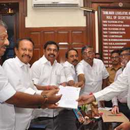 rajya sabha election nomination over tamilnadu