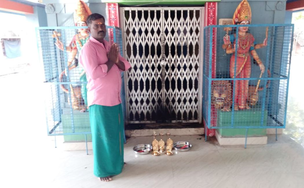 Intimidation of person donated gifts to the temple