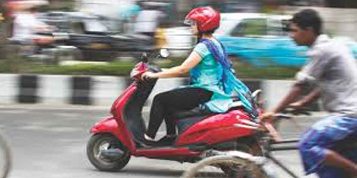 girl missing with scooter ...
