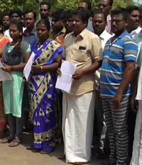 Consider our livelihood; Workers who petition the District Collector