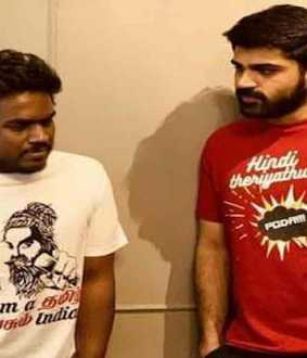 """I don't know Hindi!"" -Tamil screen celebrities' t-shirt revolution!"
