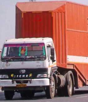 gang escapes with container truck having benz cars