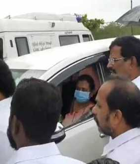 'Chief Minister is coming ... you cannot meet the people ...' dmdk Premalatha Vijayakanth who was detained!