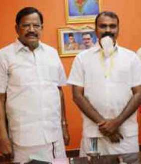 Meeting with BJP leader VP Duraisamy