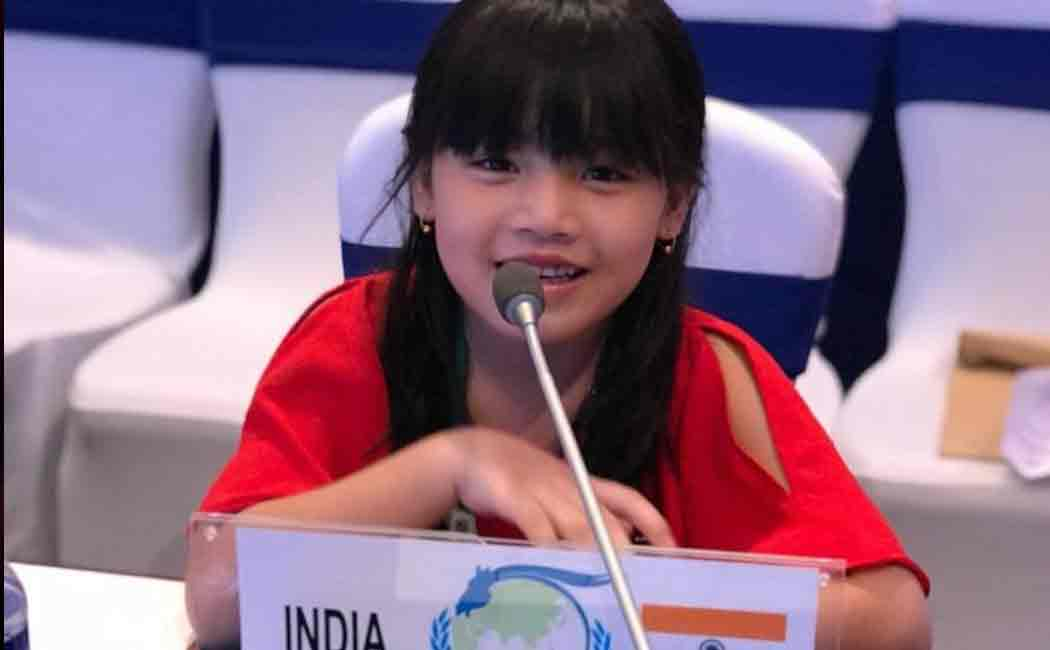 7 year old manipuri girl to represent india in uno