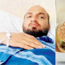 Glass pieces in burger injures man in Pune