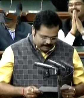kathir anand took oath in legislative assembly