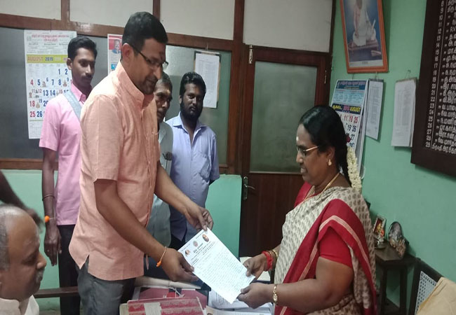 SALEM LIBRARY LAND NEED IN BJP AND RSS REQUEST LETTER SEND IN DEVISIONAL LIBARARY OFFICERS