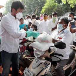 DMK  Udayanidhi Stalin provided welfare assistance