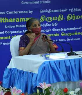 union finance minister nirmala sitharaman press meet in chennai