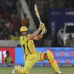 watson played for chennai super kings with wounded leg