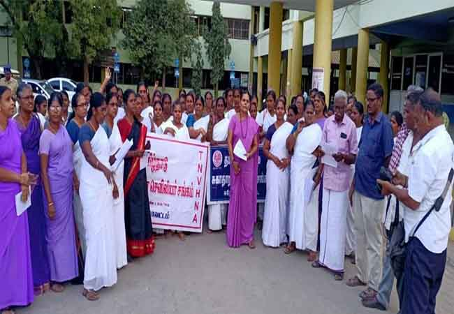 tamilnadu government hospital nurse arrive at chennai health department