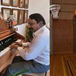 Piano, Basket Ball, Foot ball... minister sengakottiyan