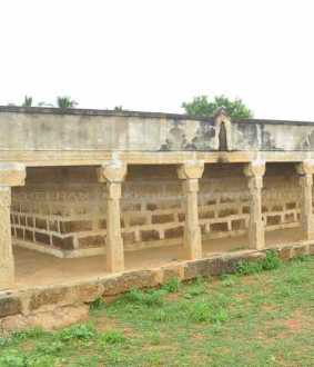 Stone halls witnessing the excavation by the Maruthupandi brothers